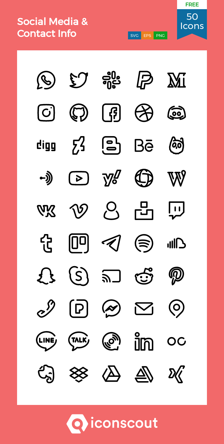 Download Social Media Icon Pack Available In Svg Png Eps Ai Icon Fonts Social Media Icons Free Social Media Icons Vector Social Icons