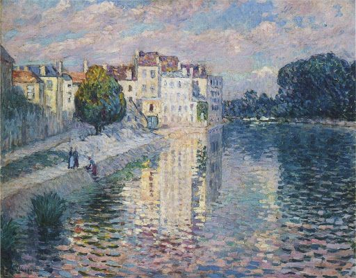 Henri Lebasque - La Marne. Beautiful work with reflections!