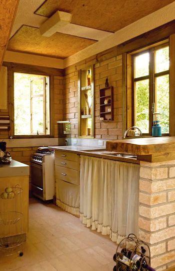 Tijolinho a vista na cozinha 6 casa decora o e dicas - Pared rustica interior ...