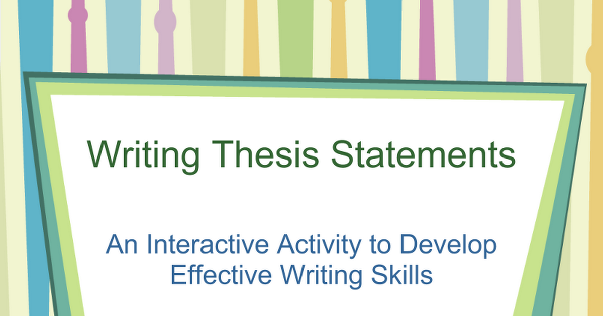 Odyssey essay thesis statement