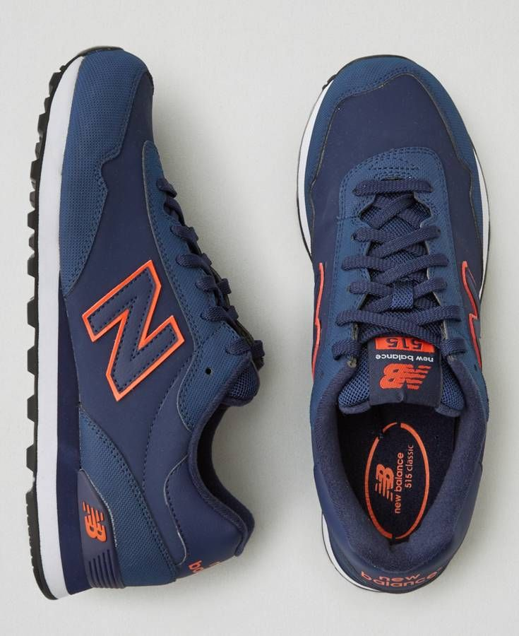 b56ea9b01e894 New Balance 574 - Tags: sneakers, low-tops, navy blue, orange | Men ...