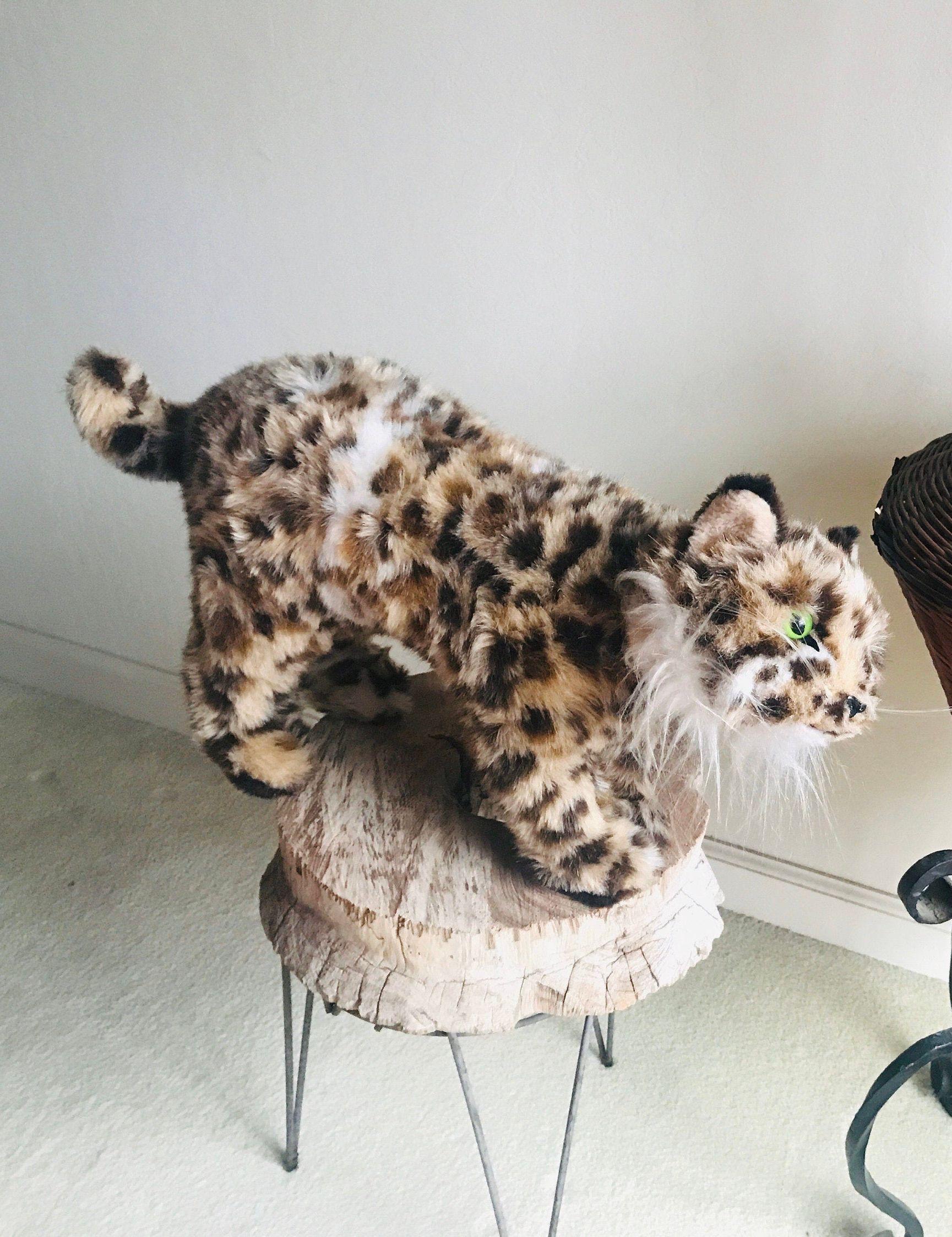 Dakin plush jungle cat spotted leopard 1978 pillow pets