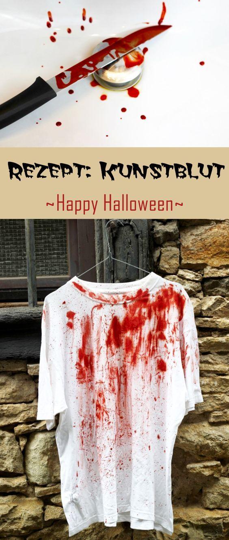 Kunstblut Selbst Herstellen Diy Pinterest Halloween