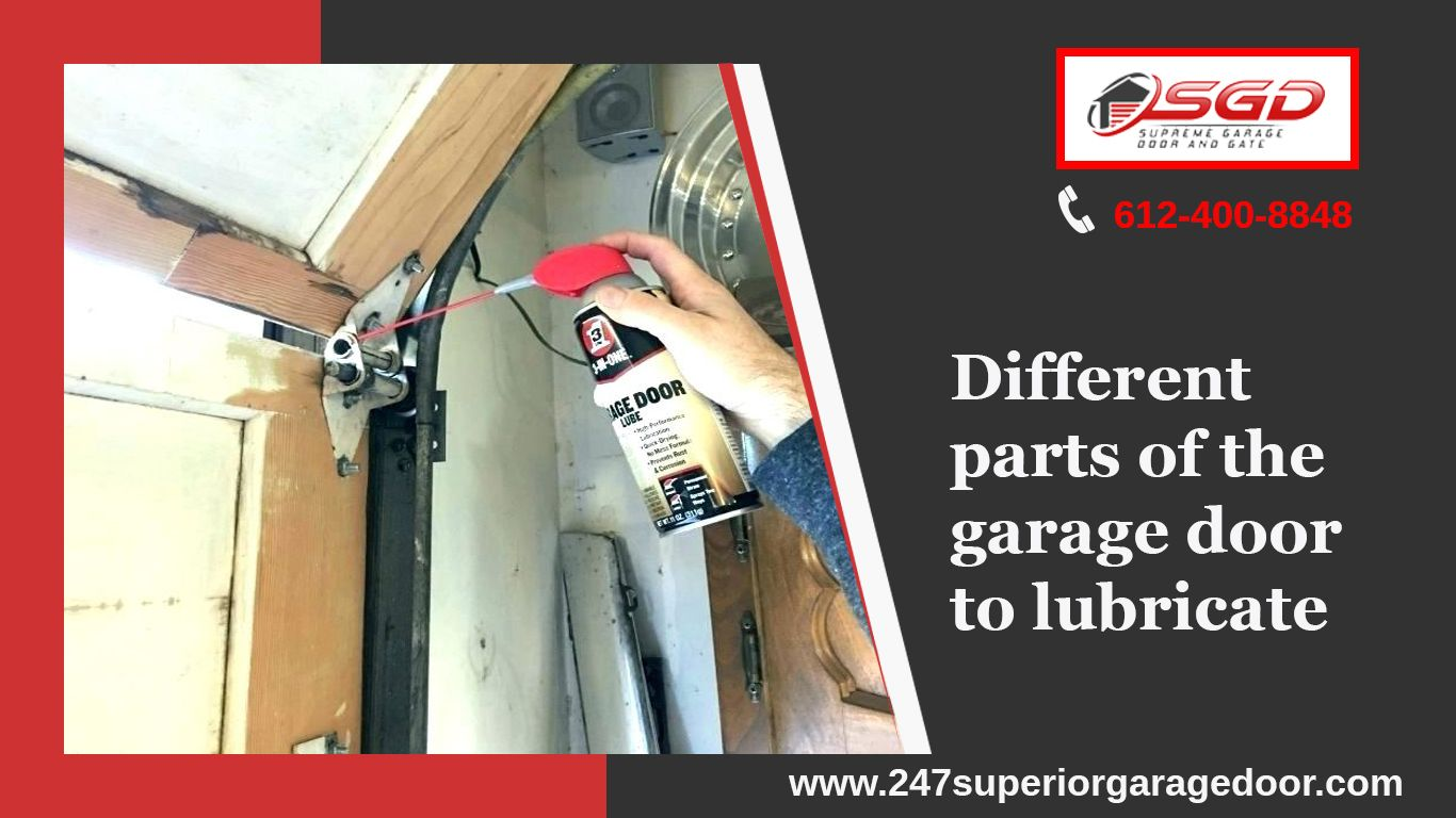 Different Parts Of The Garage Door To Lubricate Garage Doors Garage Service Door Garage Door Installation