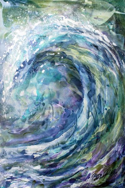 wave abstract by nancy goldman art paintings of water and