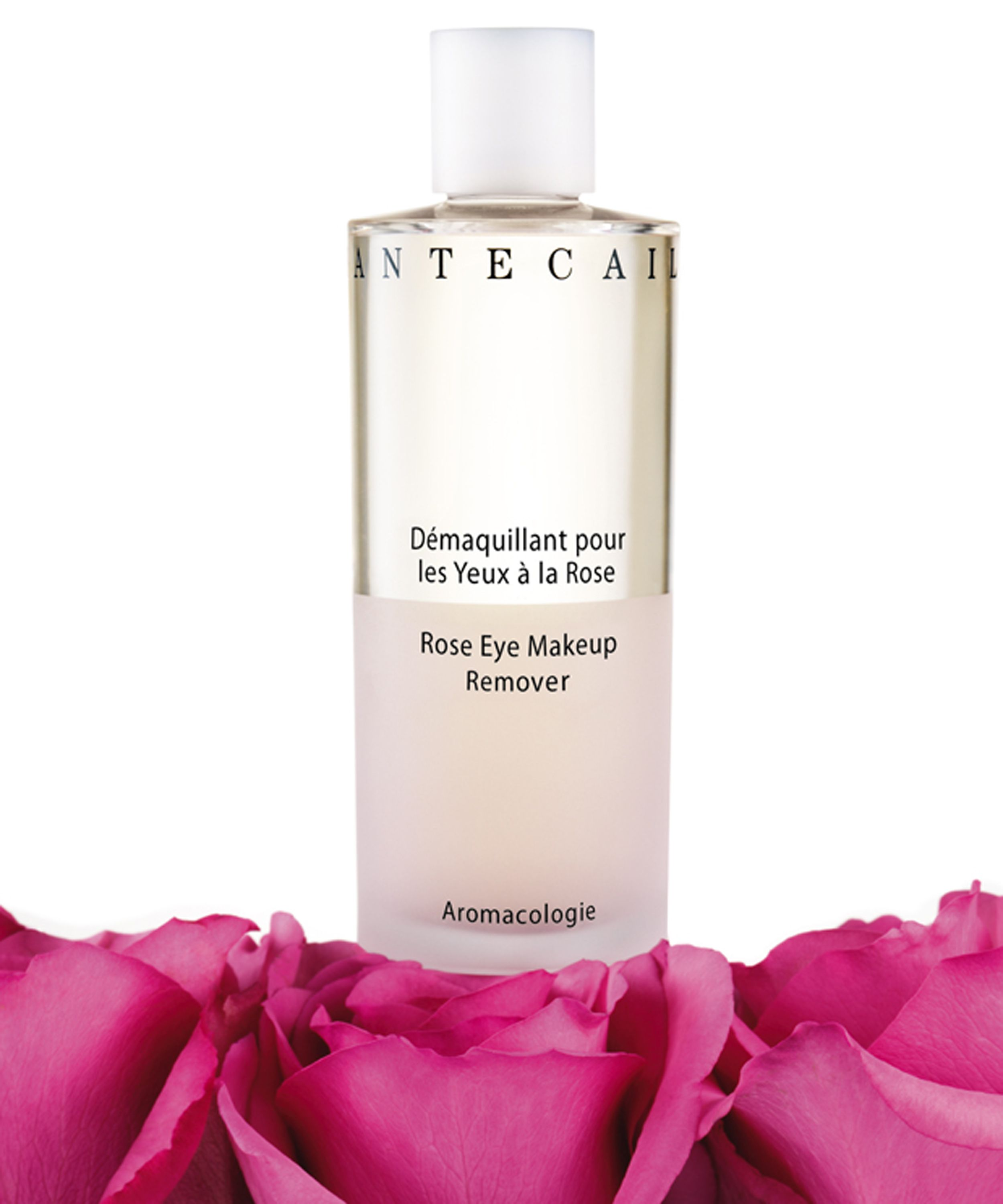 Pure rose water based eye make-up remover that gently dissolves all types of make-up and soothes and brightens the eye area. Featuring apricot extract to regenerate skin and aloe vera to heal inflammation and reduce redness caused by irritation #Chantecaille #LibertyBeauty