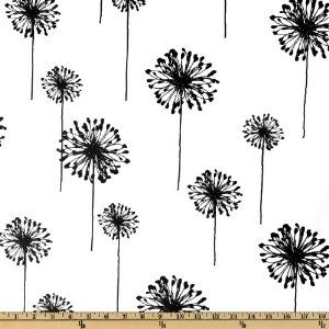 Amazon.com: Premier Prints Dandelion White/Black Fabric: Arts, Crafts & Sewing