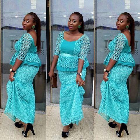faffeda4e71288 Creative Aso Ebi Skirt and Blouse Style | Prosperity | Blouse styles ...