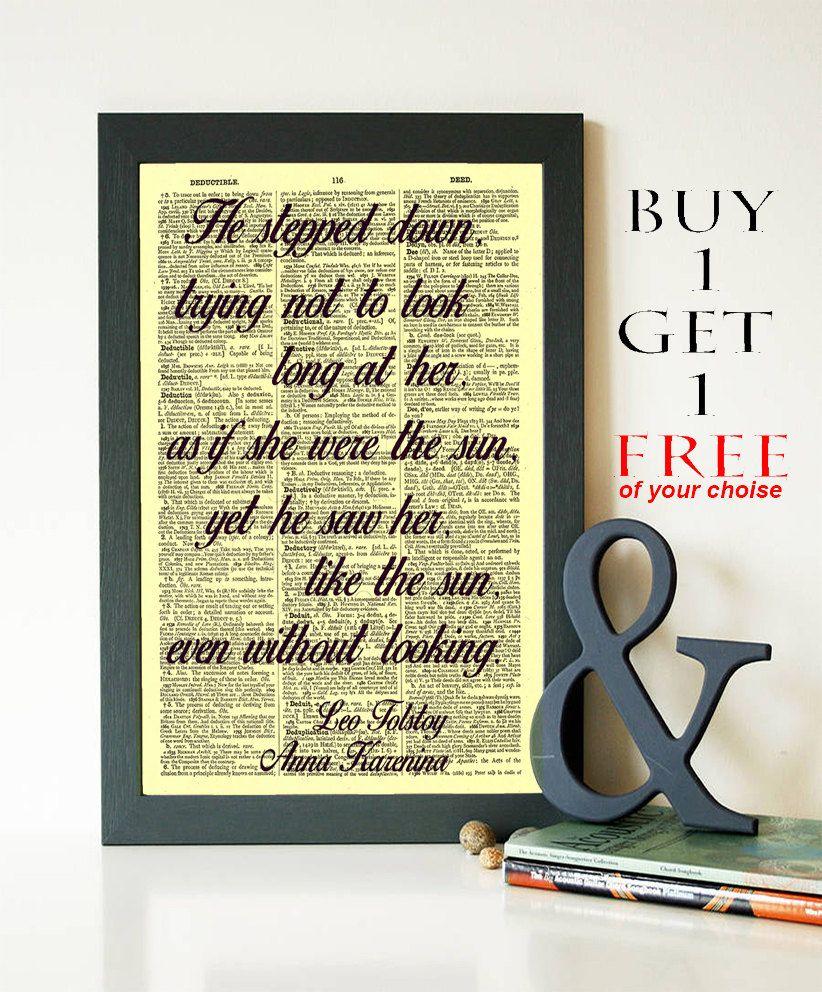 Leo Tolstoy Quotes Print- Anna Karenina Book Quotes- Typography ...