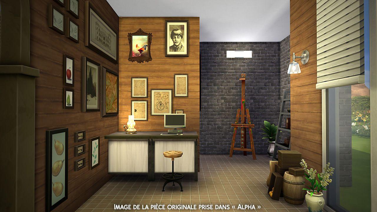 Atelier Dartiste Pièce Pour Les Sims 4 Sims Maison