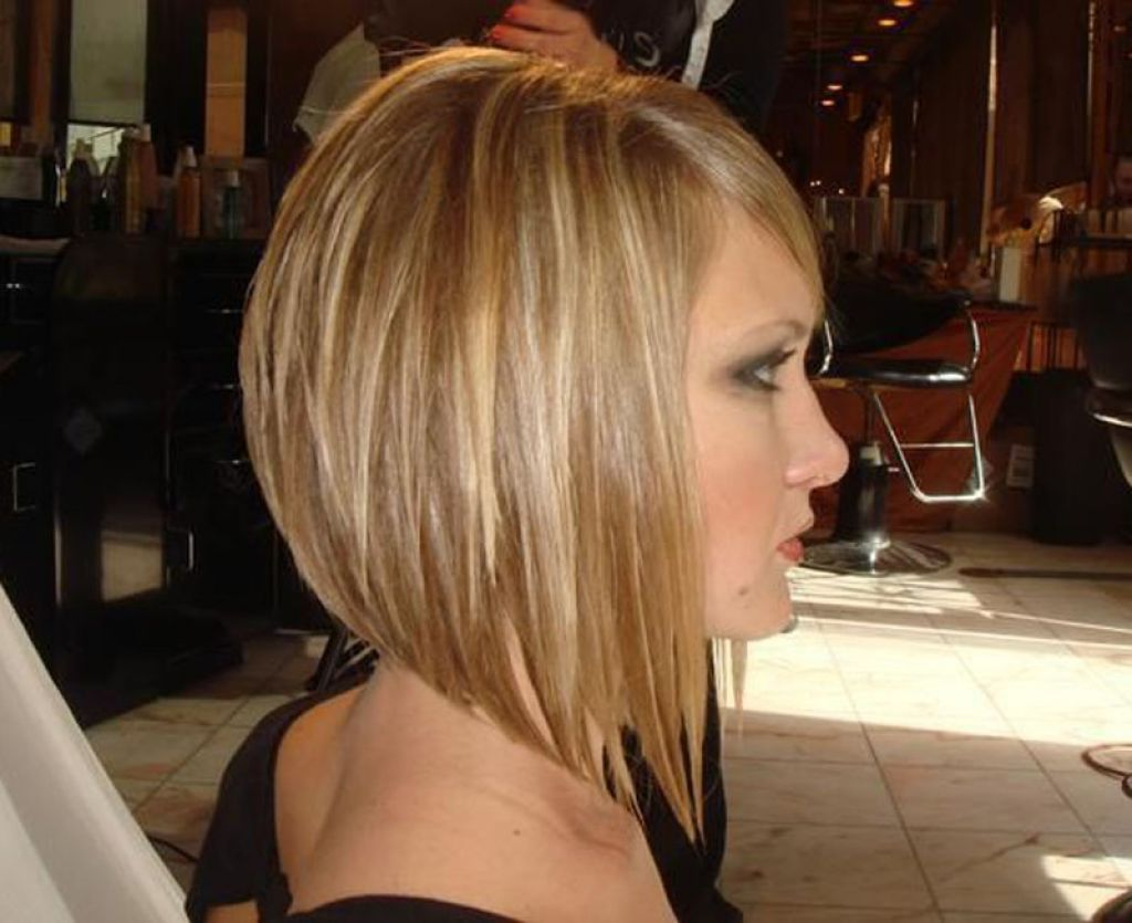 Picture Of Short Angled Bob Hairstyles