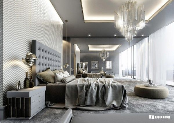 Schön Schlafzimmer Ideen: Luxus Master Schlafzimmer Design Ideen. Hell Grau  Schlafzimmer Tönen. Geheimzimmer.