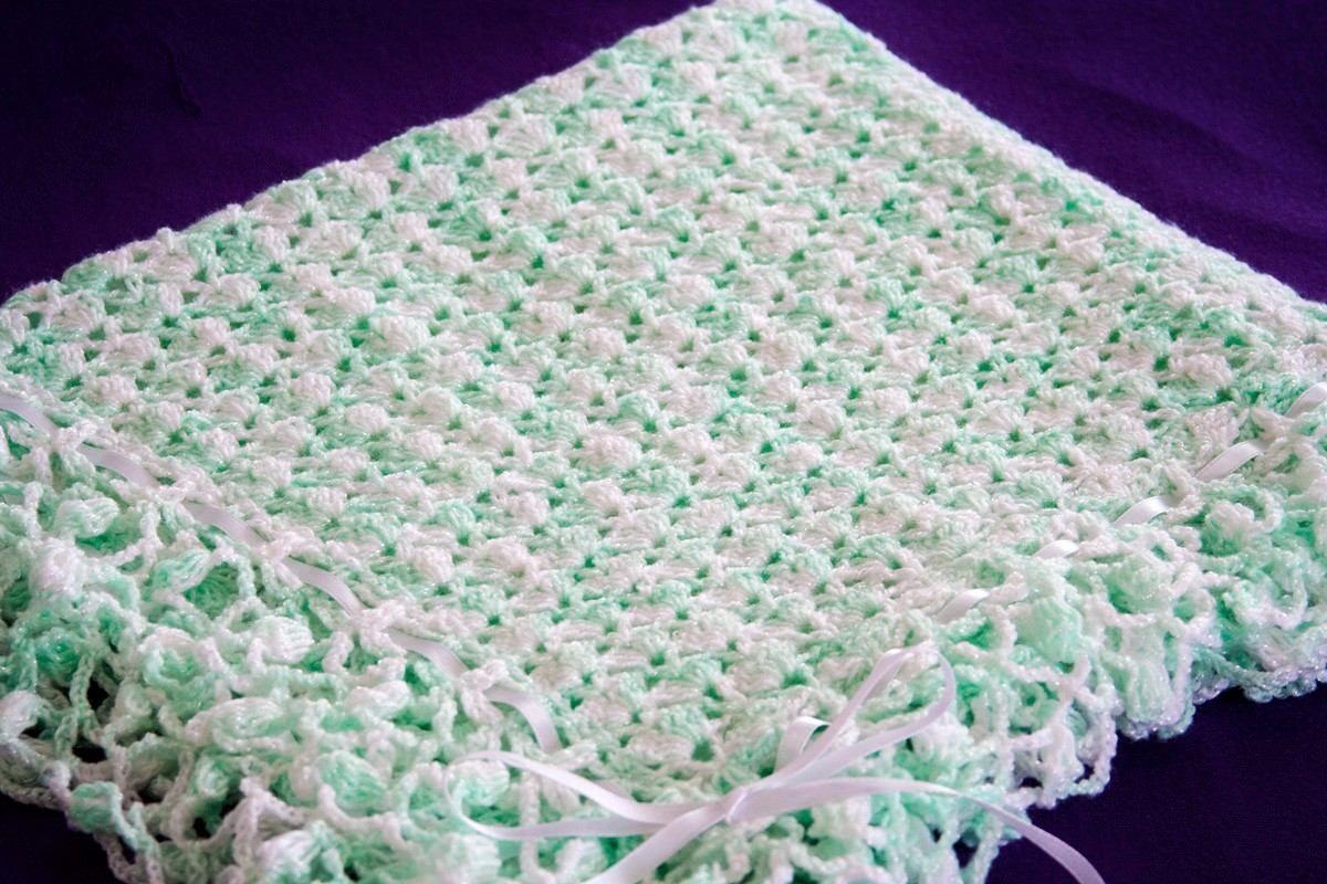 Mantas tejidas a crochet para bebés - Imagui | cobijas | Pinterest ...