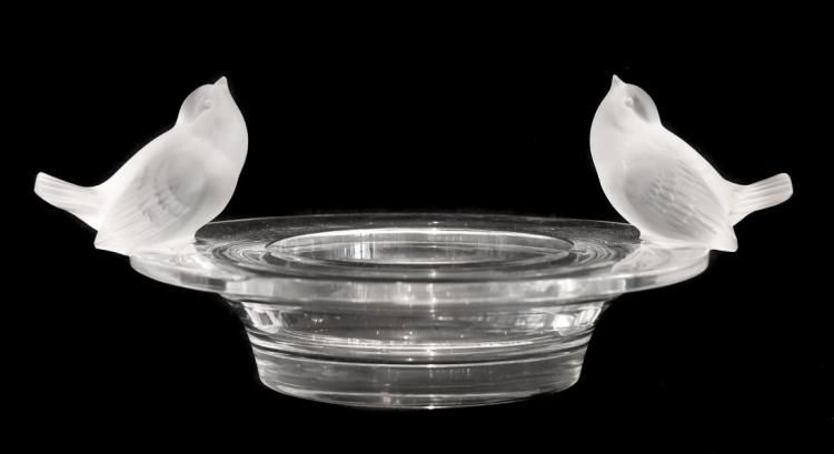 Property of an East Coast LadyLALIQUE FRANCE 20TH CENTURY'TWO SPARROWS BOWL'A…