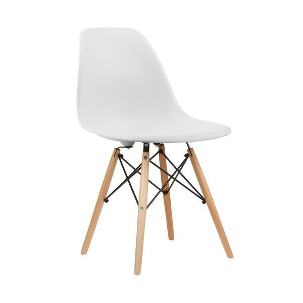 Eames Style Molded Plastic Dowel Leg Side Chair Dsw Natural Legs