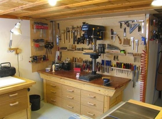 Top Tips For Setting Up A Workshop In Your Cellar Basement Workshop Workshop Layout Woodworking Shop Layout