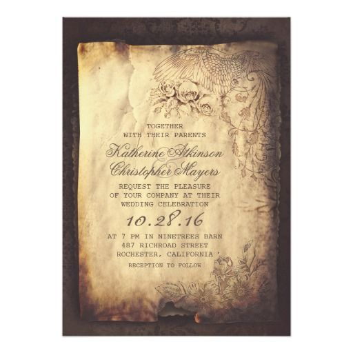 old vintage letter wedding invitations