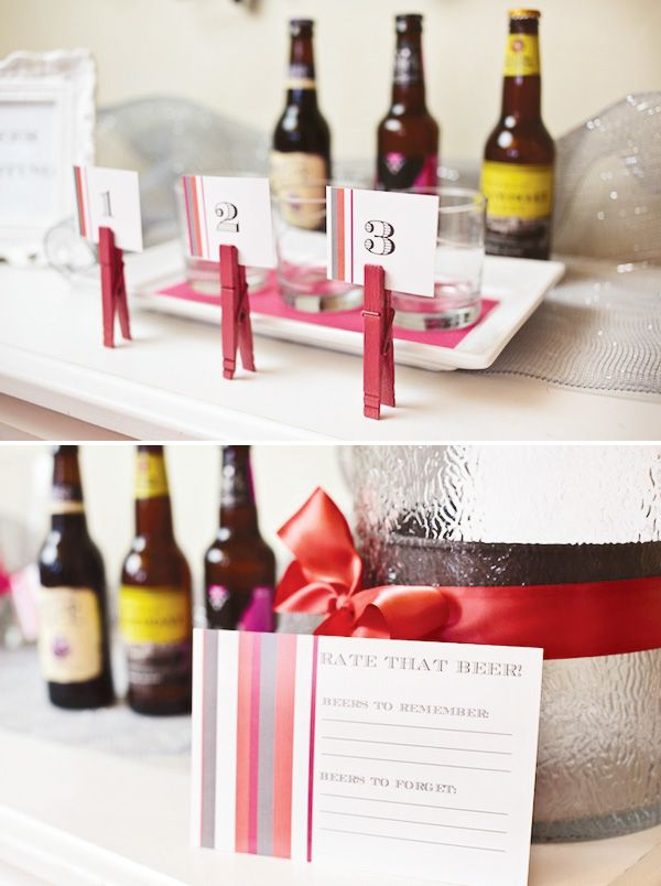 Beer & Bra Bachelorette Party | Formal | Pinterest | Food ...