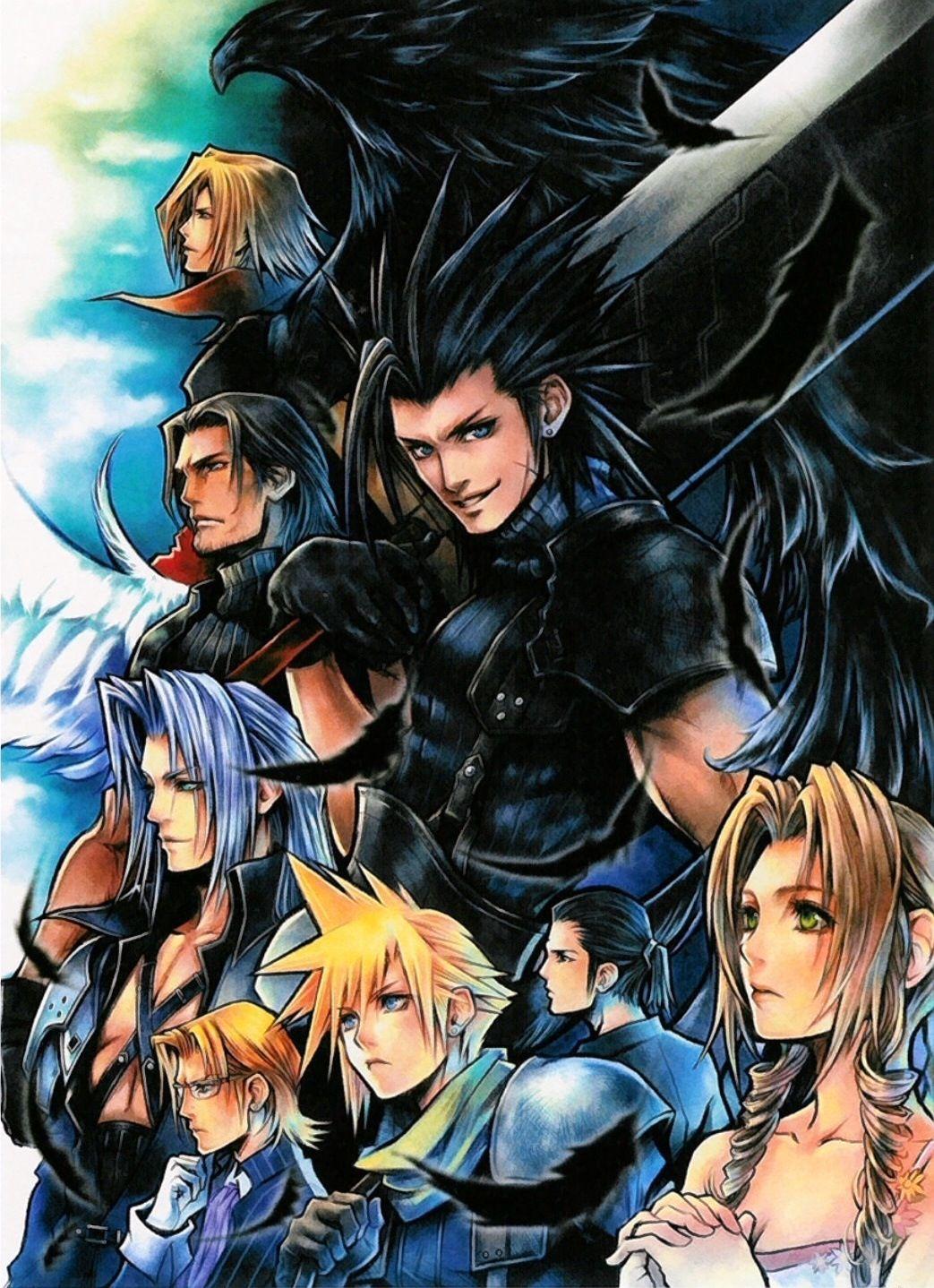 Final Fantasy Crisis Core Wallpaper Final Fantasy Pinterest