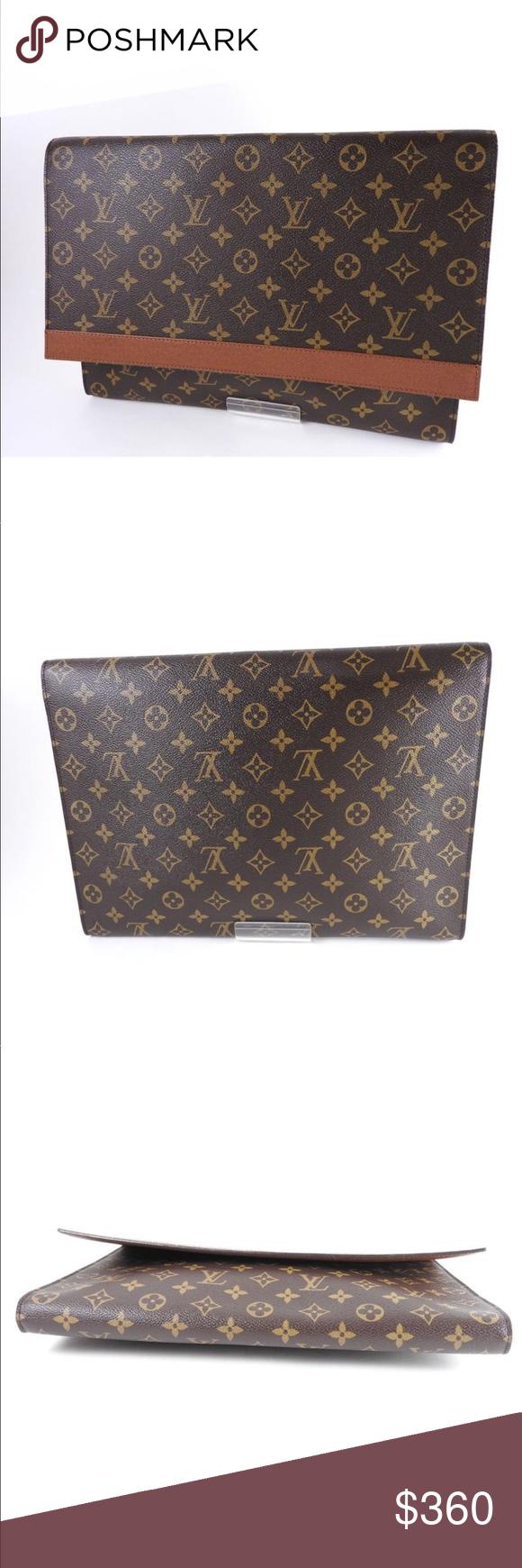 Authentic Louis Vuitton Envelope Clutch Louis Vuitton Authentic Louis Vuitton Vintage Elegant