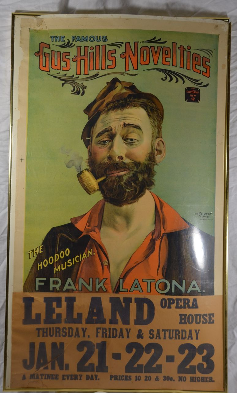 Antique Music Poster Lithograph Vaudeville Poster by Calvert Litho ...