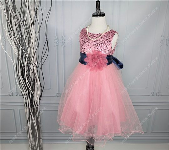 4ded47ebce5 Flower Girl Dress, Communion, Special Occasion Girls Dress with Ivory, Red,  Black,Silver Sash, White Black Silver Sequin Girls Dress