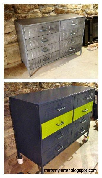 . DIY PB Locker Style Dresser   Kid Rooms in 2019   Locker dresser