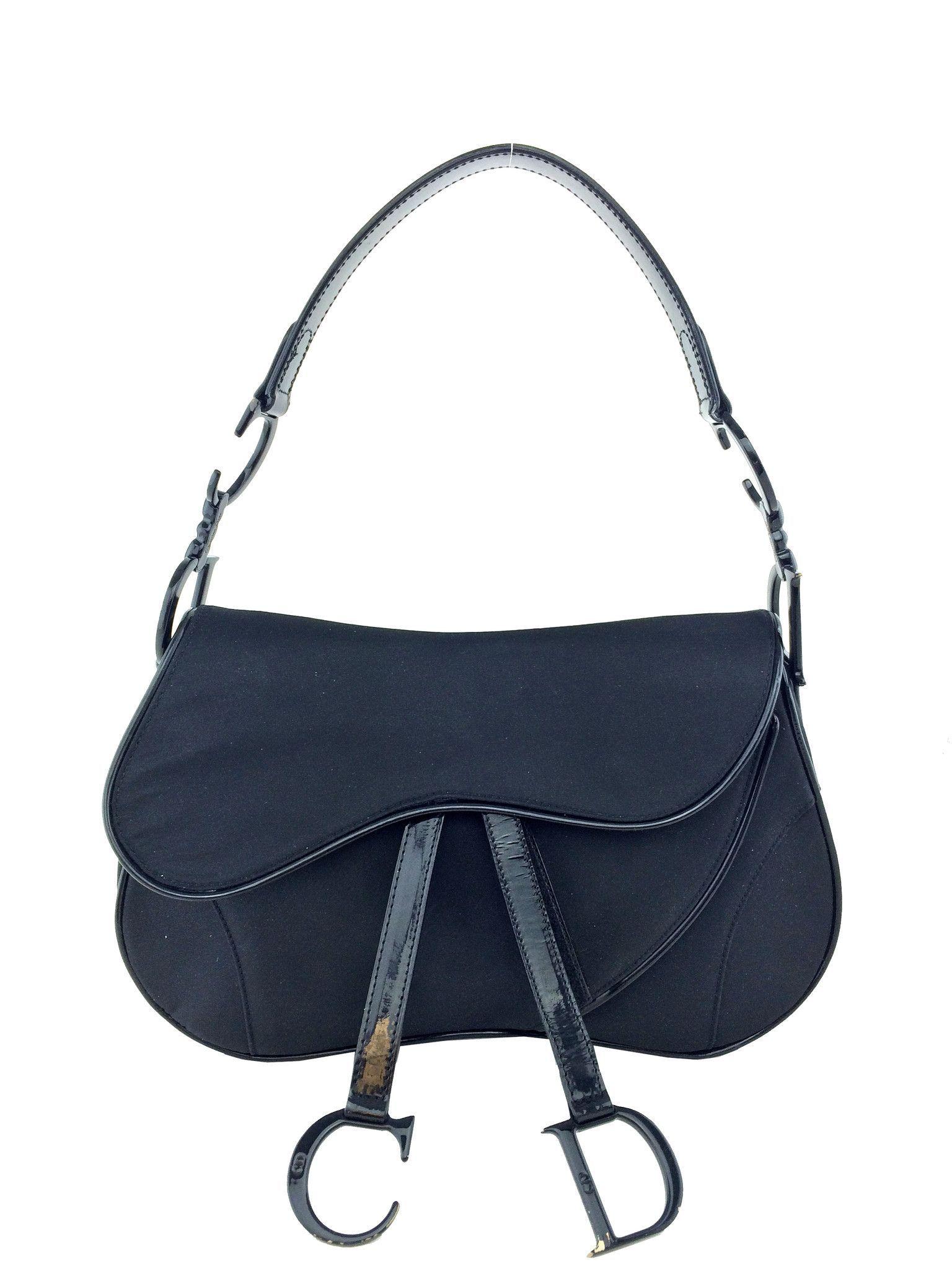 15ed7c52e32c Christian Dior Nylon Saddle Bag Black