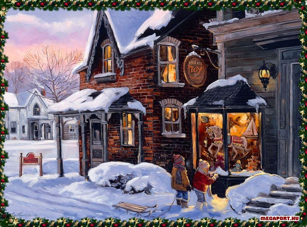 Christmas scene christmas art pinterest christmas Christmas card scenes to paint