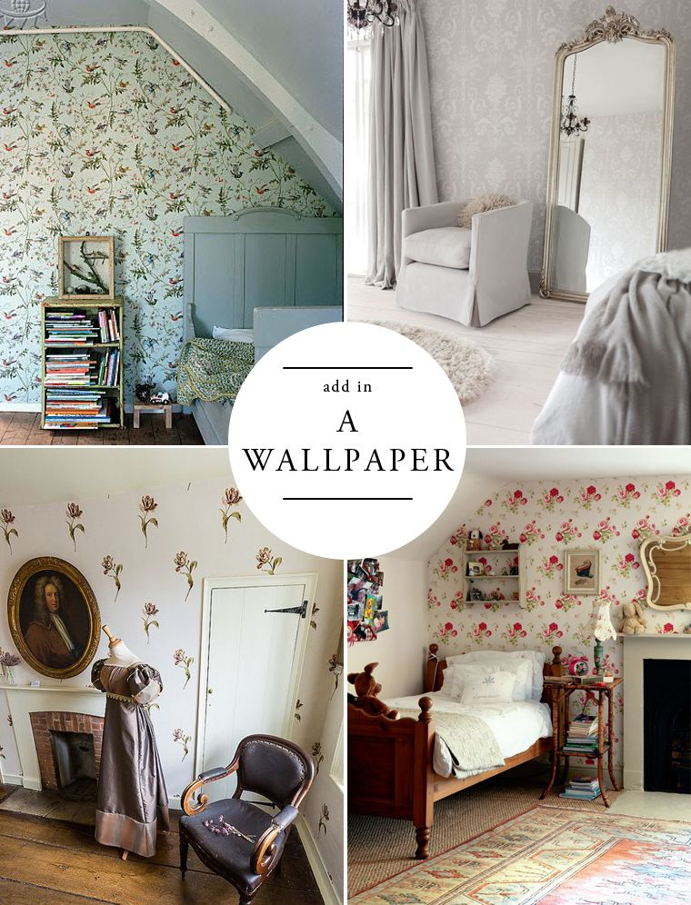 For A Modern English Home Add In A Wallpaper Places Spaces