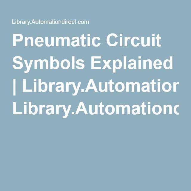 Pneumatic Circuit Symbols Explained Librarytomationdirect