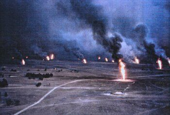 Kuwait Oil Well Fires Operation Desert Storm Storm Pictures