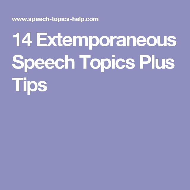 benefits of extempore speech