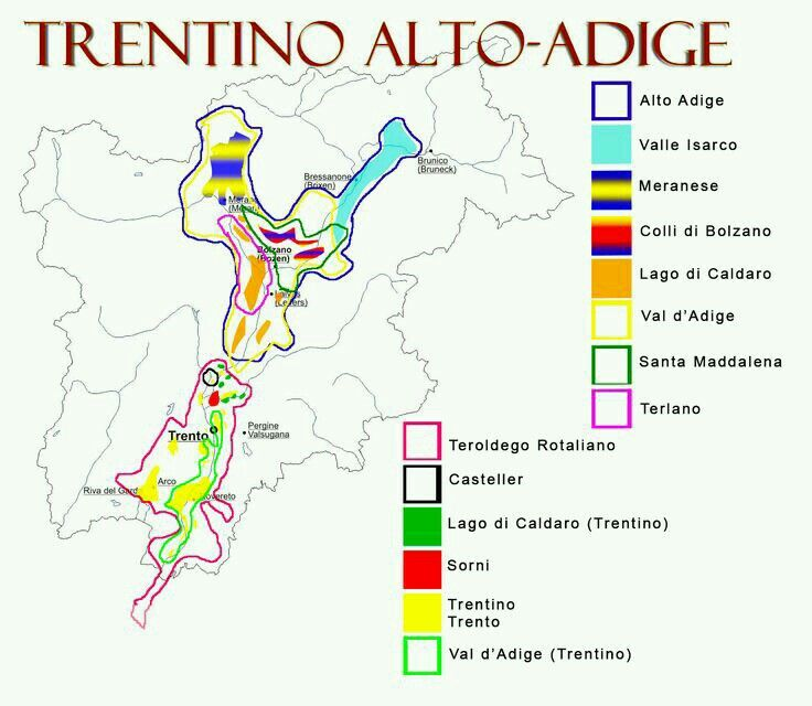 Italian wine regions Trentino AltoAdige Wine Knowledge
