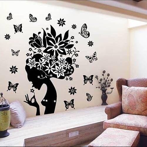 Bot nico caricatura paisaje personas pegatinas de pared for Pegatinas decorativas pared