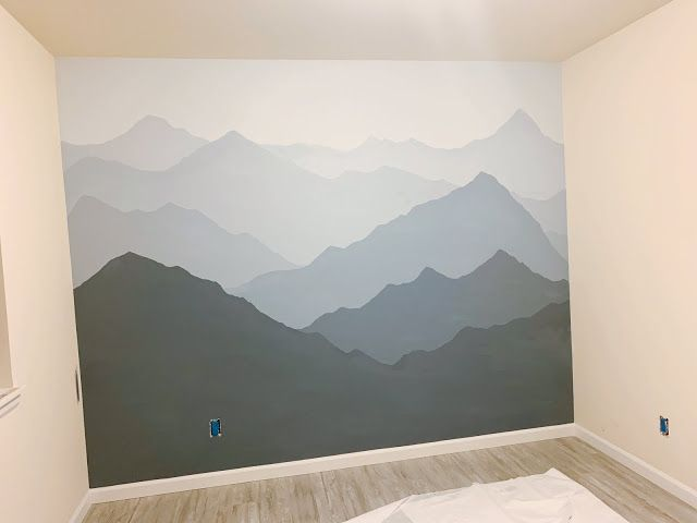 How to Paint a Mountain Mural on your Bedroom or Nursery Wall