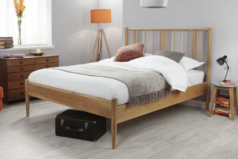 King Size Bed In Natural Oak Oak Bed Frame Solid Oak Beds Wooden Bed