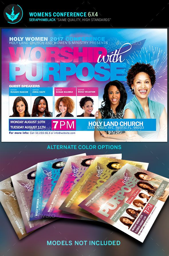 Worship With Purpose Women Conference Flyer Template  Flyer