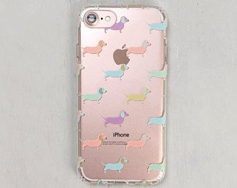 cheap for discount d369c eeca8 Pastel Dog Phone Case, Dachshund, iPhone 8 Plus Case, 7, 6s, X, 5 ...