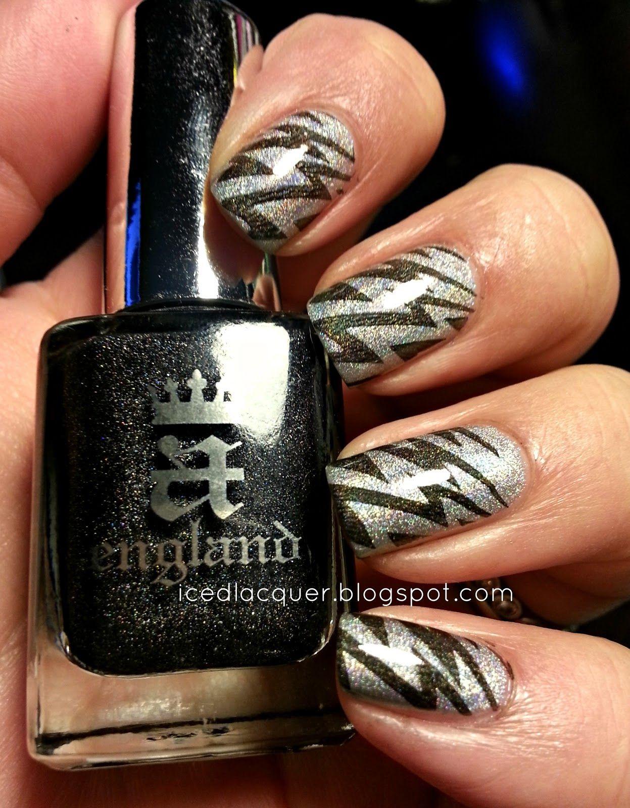 Holographic Lightning Nail Design Nail Designs Pinterest