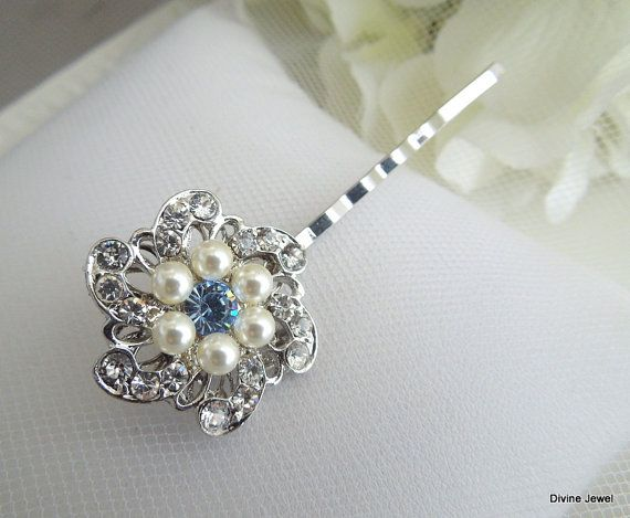 Bridal Long Fleur Cluster Bridal Pendentif Broche Broche Clair Strass Cristal