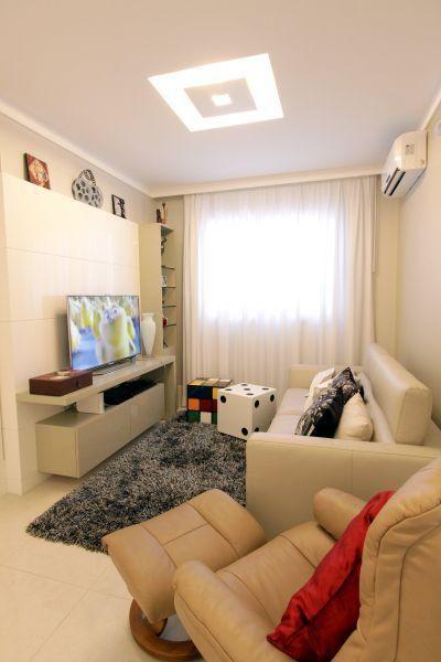 Resultado de imagem para fotos de salas pequenas decoradas for Iluminacion departamentos pequenos