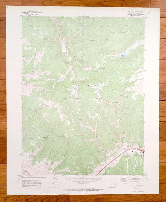 Antique Vail, Colorado 1970 US Geological Survey Topographic ...