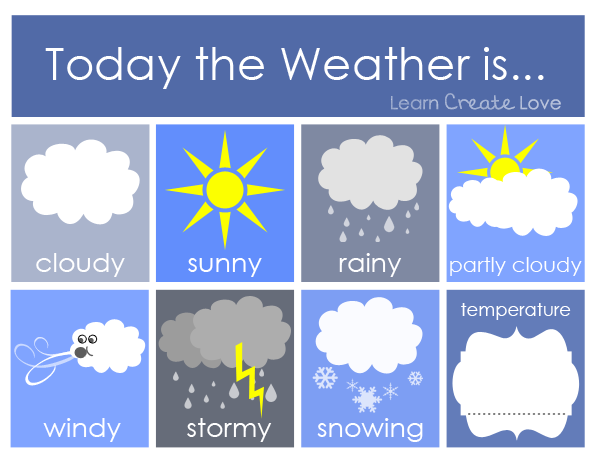 photo relating to Printable Weather Reports titled Absolutely free Printable Climate Routines for Children PreK Cl