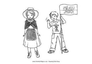 st david\'s day coloring pages | Welsh Children Colouring Page to celebrate St. David's Day ...
