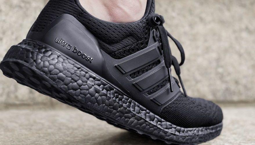 adidas triple black ultra boost footwear pinterest triple