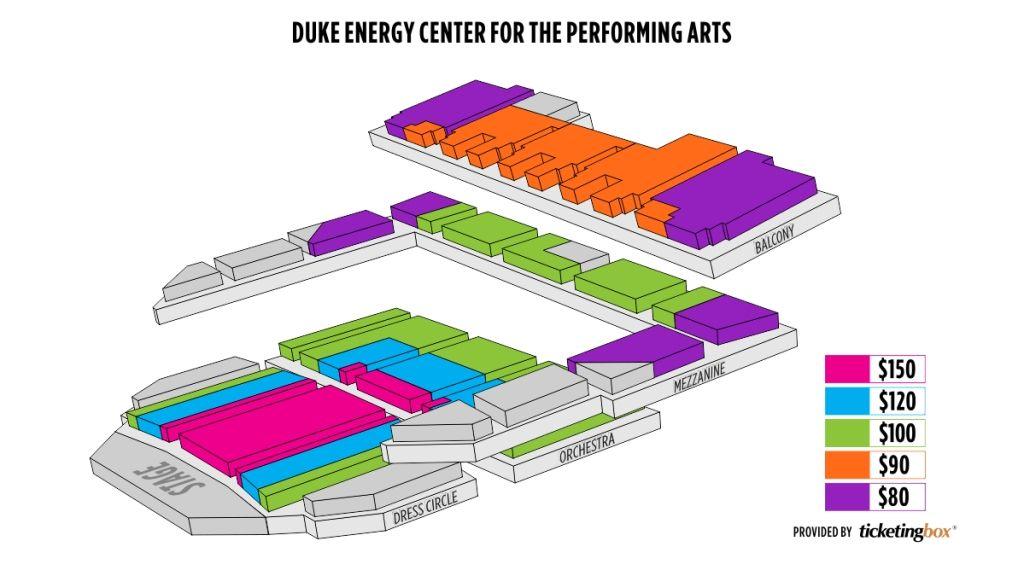 Duke Energy Center Seating Chart