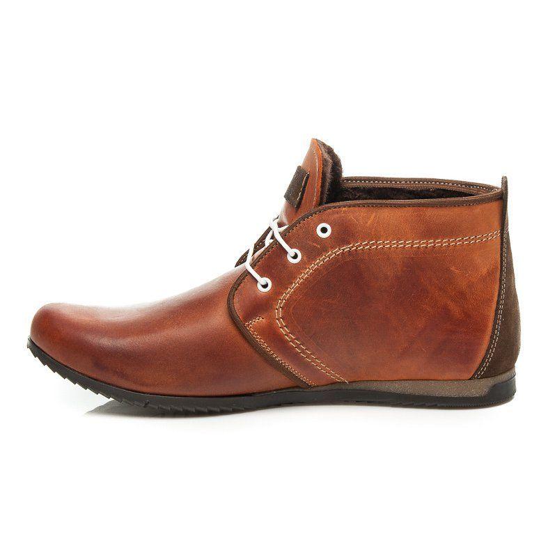 Trekkingowe Meskie Lucca Lucca Brazowe Eleganckie Obuwie Meskie Chukka Boots Boots Shoes