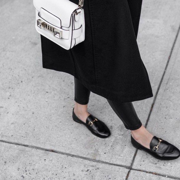 c753e2205 Bag: tumblr white proenza schouler coat black coat loafers black loafers  gucci gucci shoes gucci
