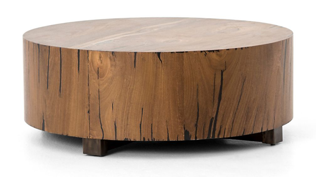 Dillon Natural Yukas Round Wood Coffee Table Reviews Crate And Barrel Coffee Table Wood Round Wood Coffee Table Coffee Table
